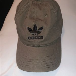 Women's adidas baseball hat olive green